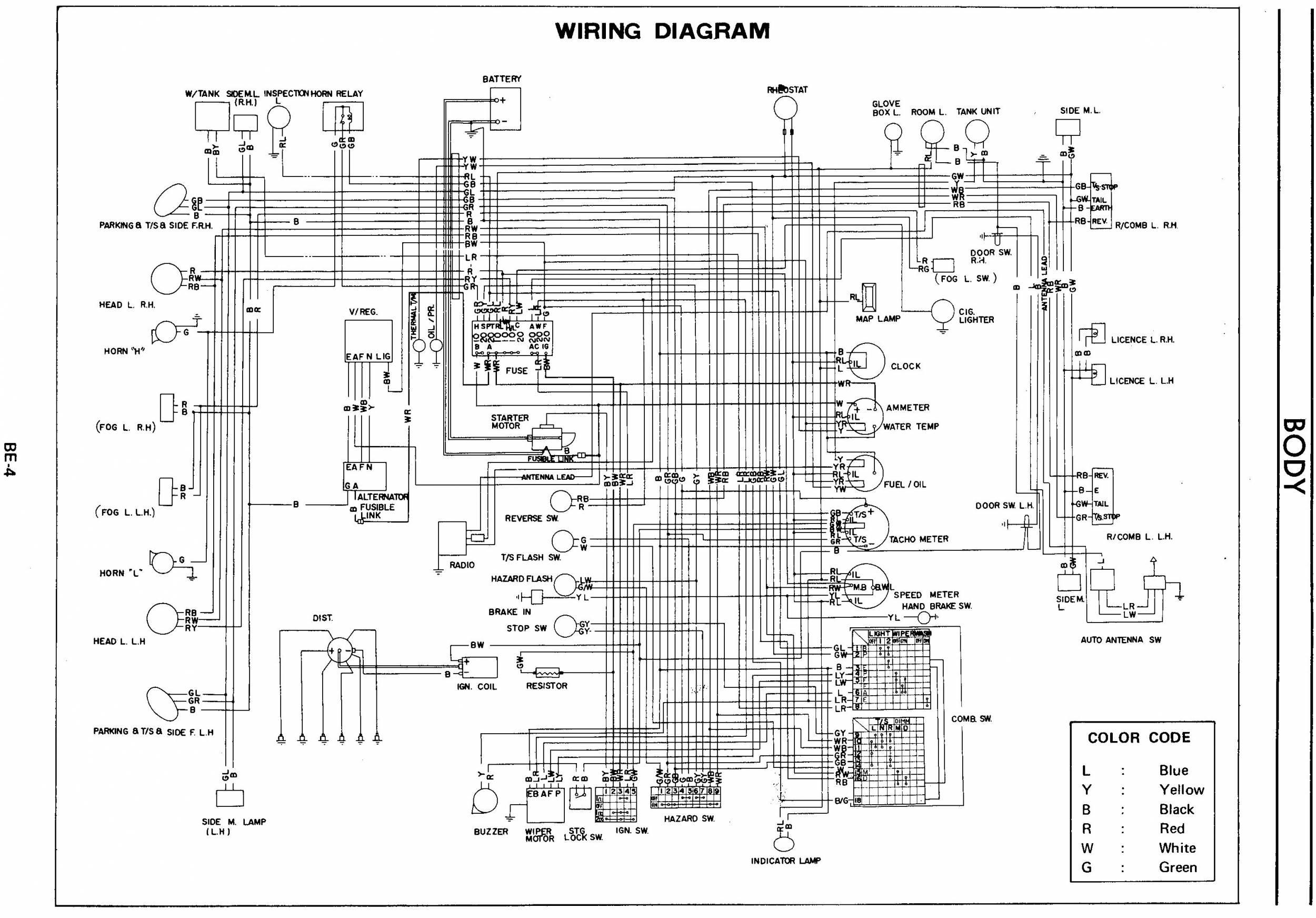 1974 datsun 620 truck wiring diagram