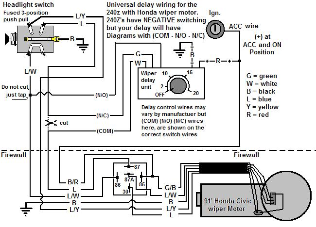 Wiring up a Honda wiper motor - with a twist - Ignition and
