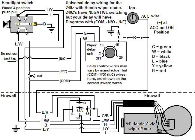 57 chevy wiper motor wiring diagram