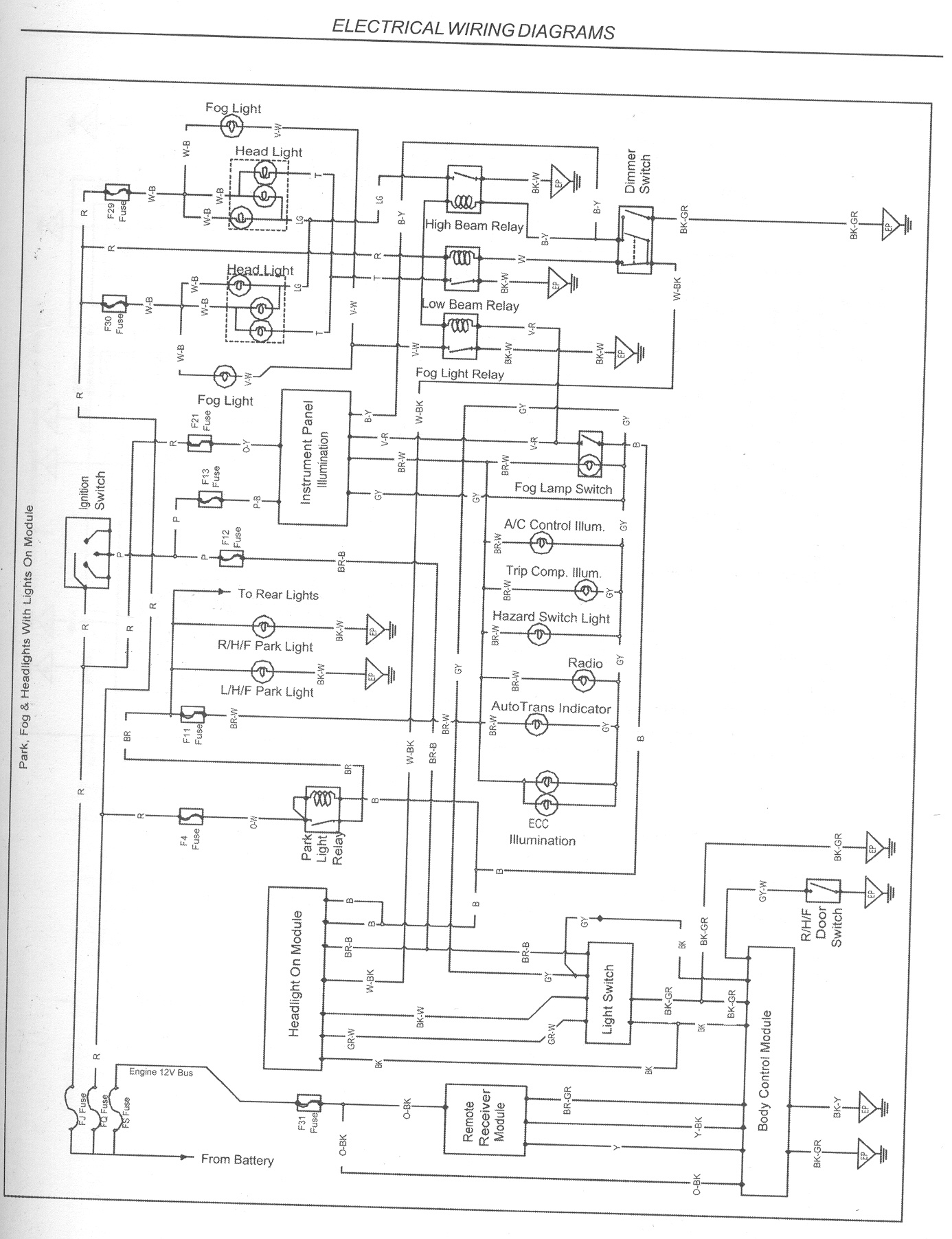 vs ute power window wiring diagram