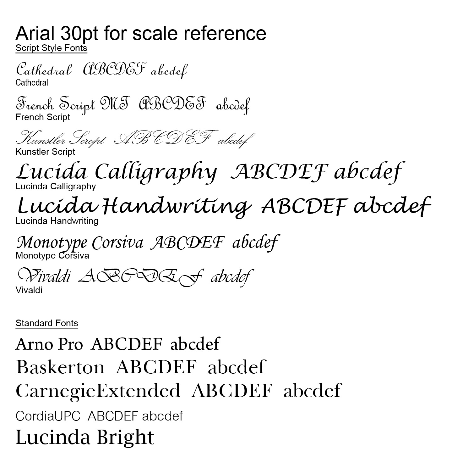 Calligraphy Fonts List Sophisticated Elegant Font Types Macrumors Forums