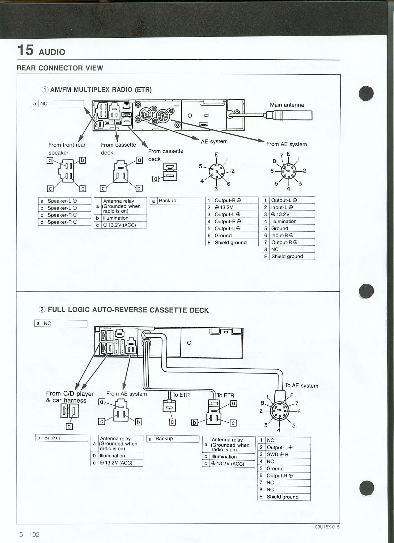 Mazda 929 Wiring Diagram Radio Auto Electrical Honda