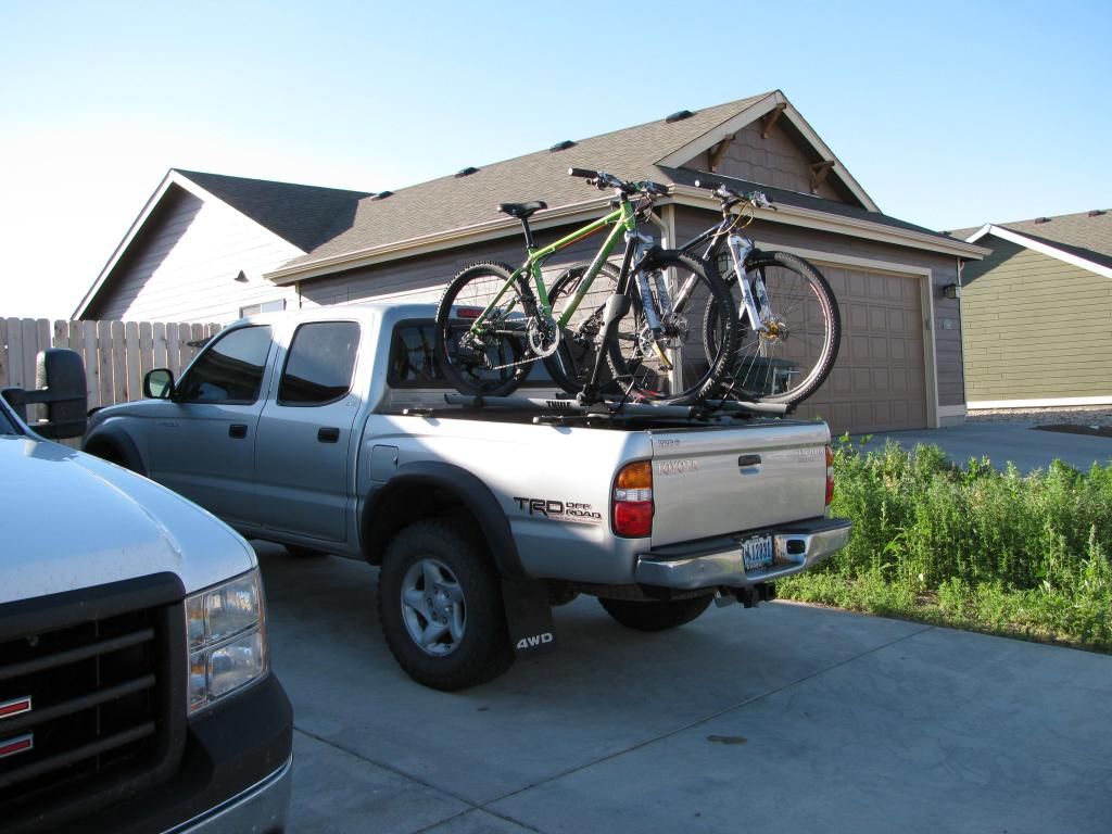 show your DIY truck bed bike racks