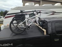 Home made bike rack compatible with Undercover Tonneau ...