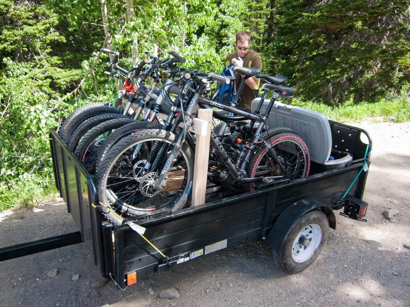 Utility Trailer Setup For 5 Bikes Mtbrcom