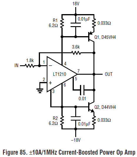 dual 1 mhz op amp power booster