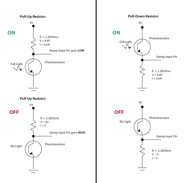 Pull-up Resistor for phototransistor \u2014 Parallax Forums