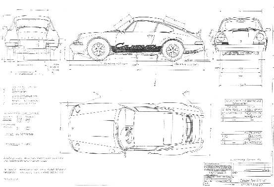 Carrera RS - Technical Drawing CARS - Technical Drawings - bill of sale form