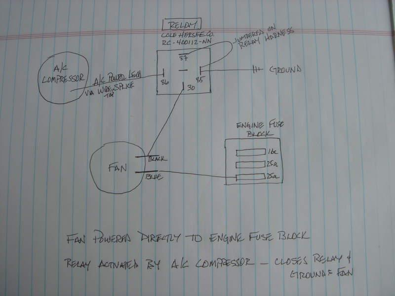 Rear A/C condenser fan relay wiring diagram - Pelican Parts Forums