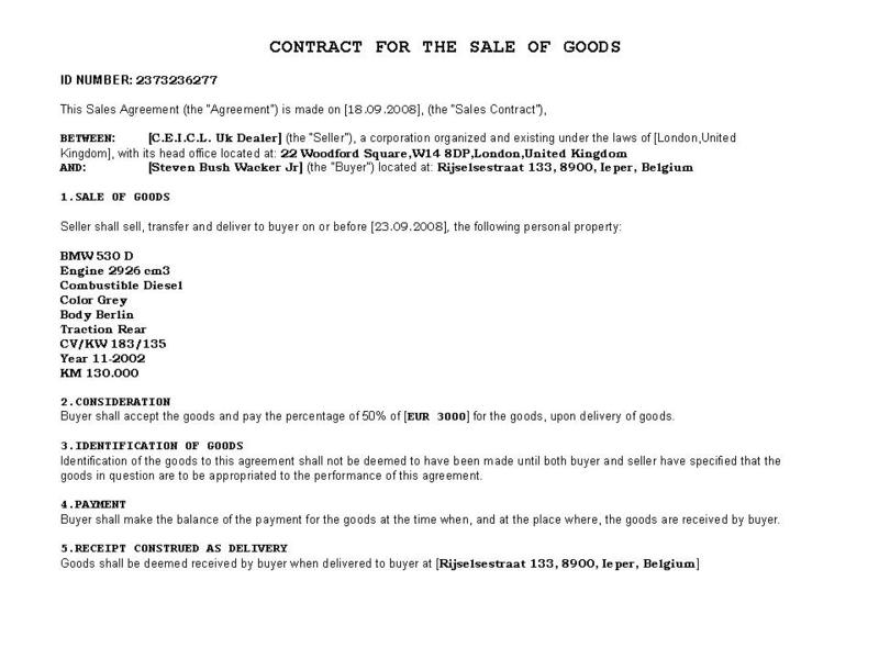 Private Car Sale Contract Payments - Template Examples - auto sales contract template