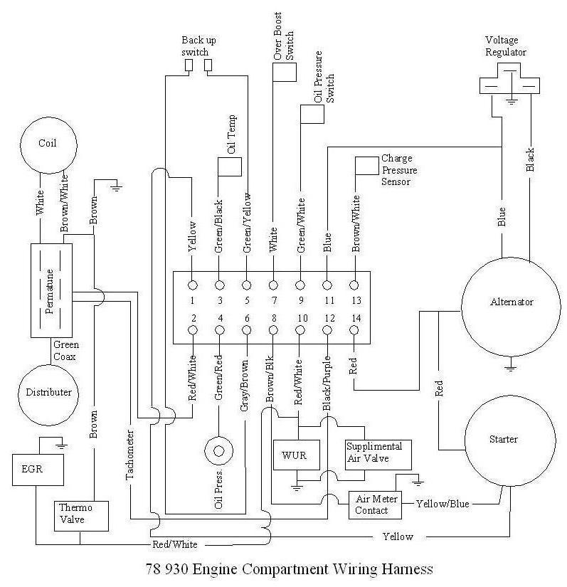 porsche 930 alternator wiring