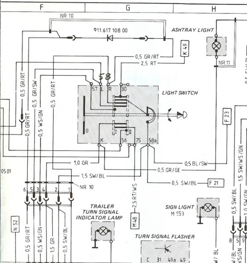 1984 porsche 911 carrera fuse diagram