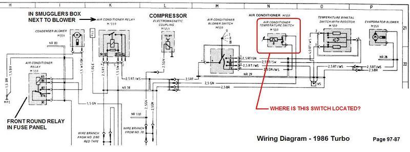 1987 porsche 911 wiring diagram