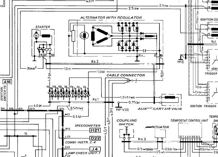 84 vw rabbit alternator wiring