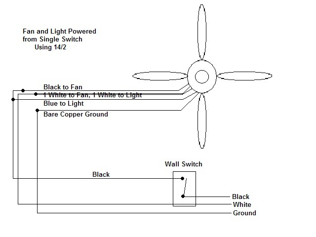 wiring a ceiling fan odd question