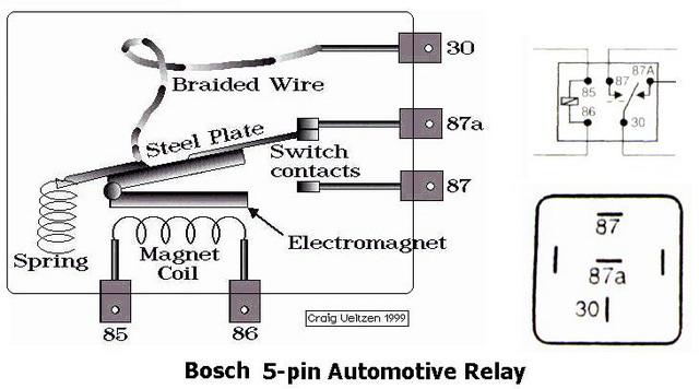 30 5 pin relay Schaltplang