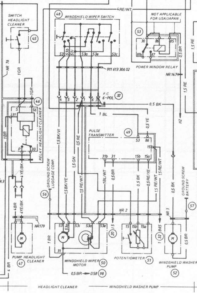 1986 porsche 911 wiring diagram