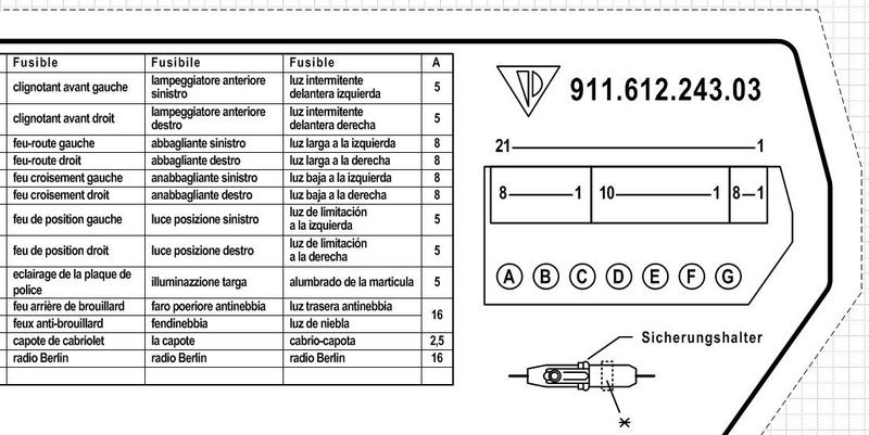 Fuse Box Label for 1988 Carrera - Pelican Parts Forums