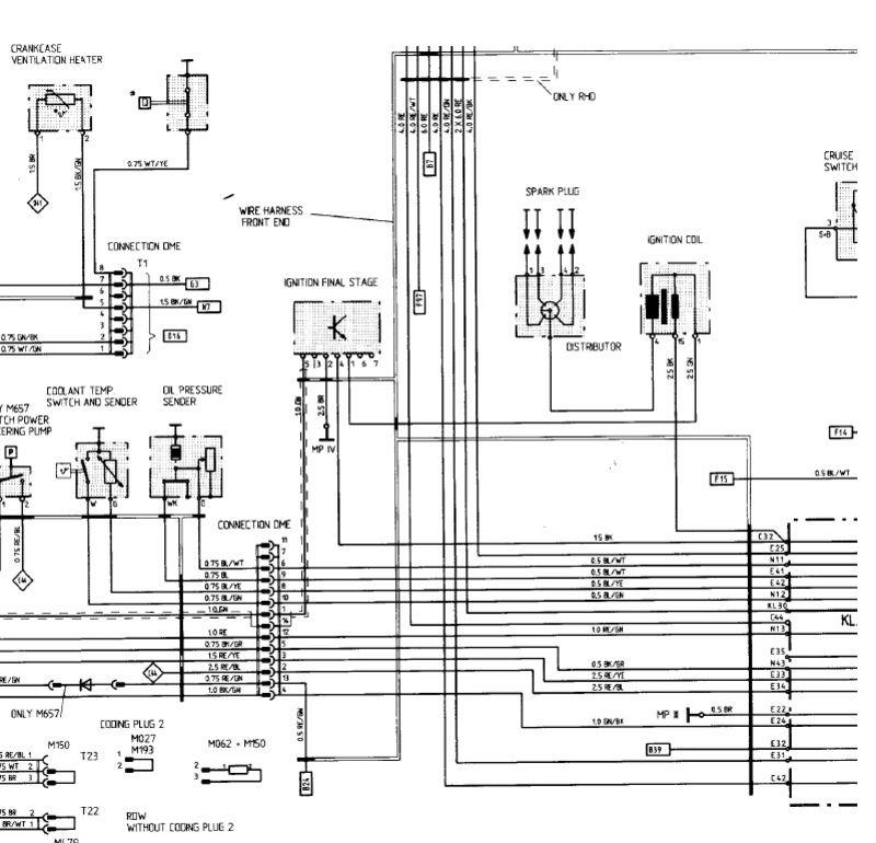 porsche 968 headlight wiring diagram