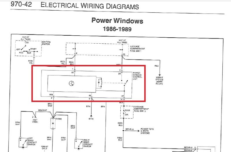 Power Window Relay Wiring Diagram - DATA Circuit Diagram \u2022