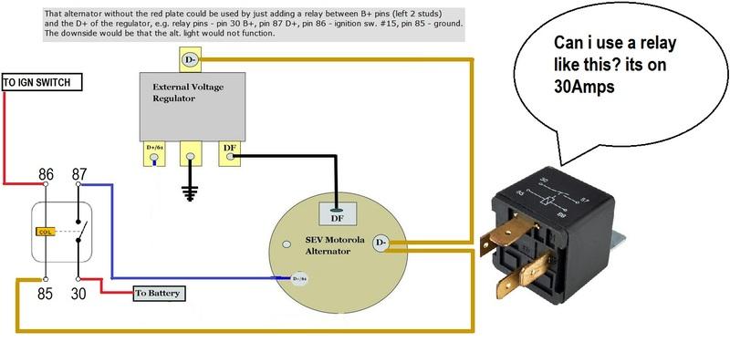 fitting later -75 Motorla alternator to swb voltage regulator - Page
