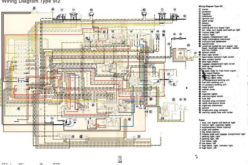 1966 Porsche 912 Wiring Diagram technical wiring diagram