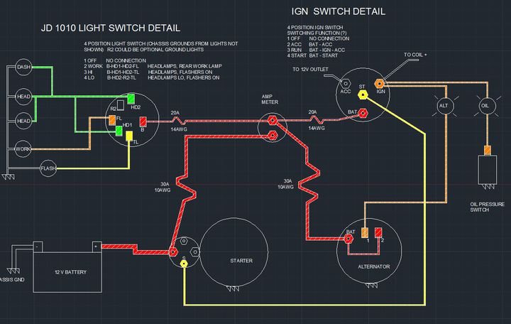 Wiring Diagram JD 1010 - Yesterday\u0027s Tractors