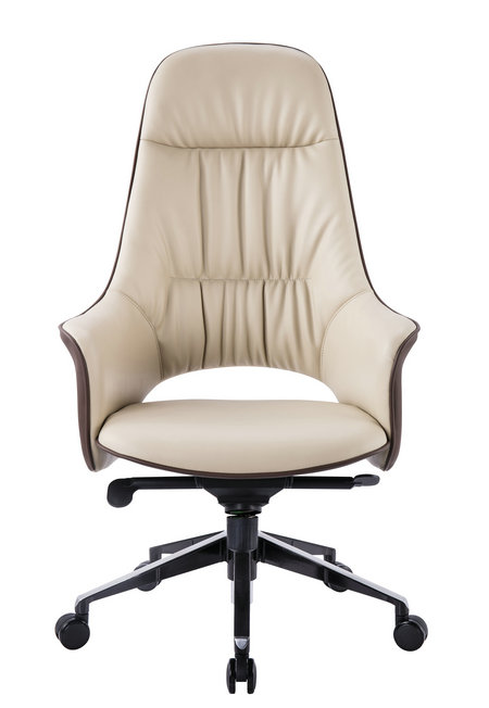 Foldable Chairs Singapore Luxury Brown Genuine Leather Manager Executive