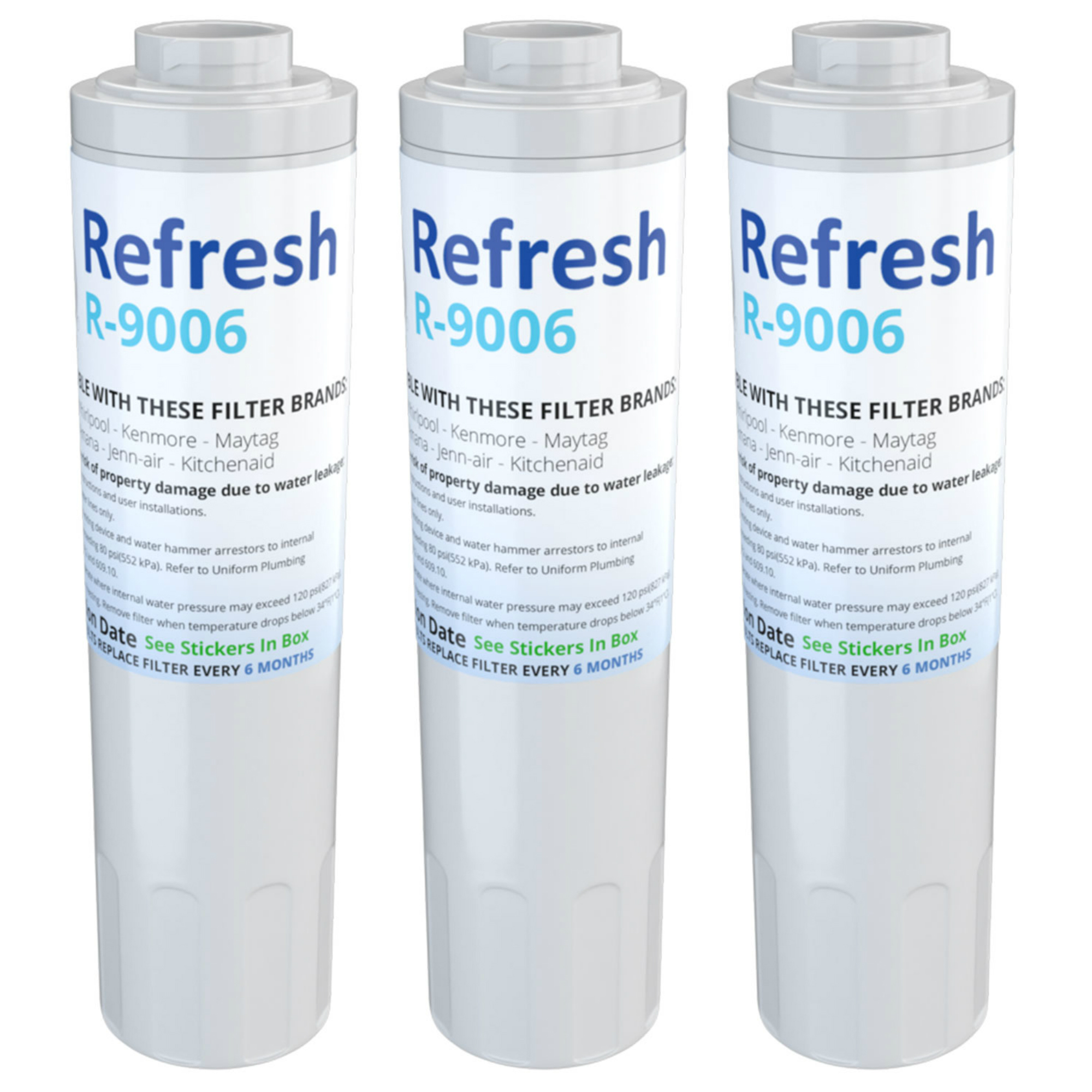 Kitchenaid Krff302ess Details About Refresh Water Filter Fits Kitchenaid Krff302ess Refrigerators 3pack