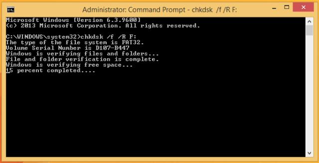 chkdsk progress