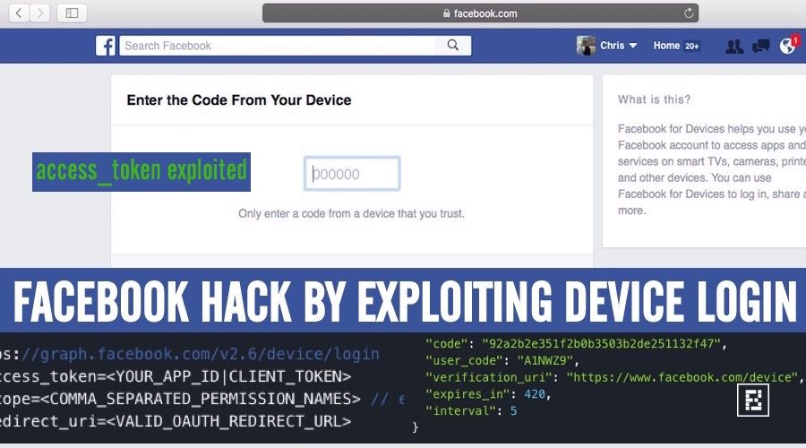 Hacking Facebook By Stealing Facebook Access_tokens In Device Login