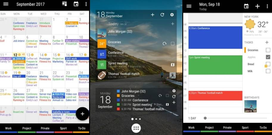 8 Best Android Calendar App List To Keep You Organized In 2018