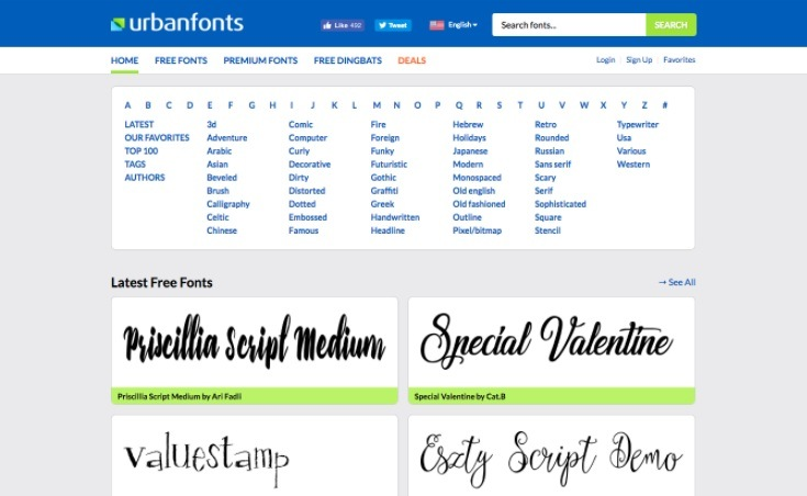 10 Best Free Fonts Download Websites You Should Use In 2018