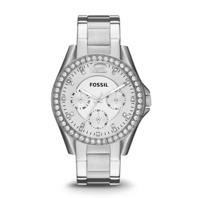 Fossil Riley Riley Multifunction Stainless Steel Watch
