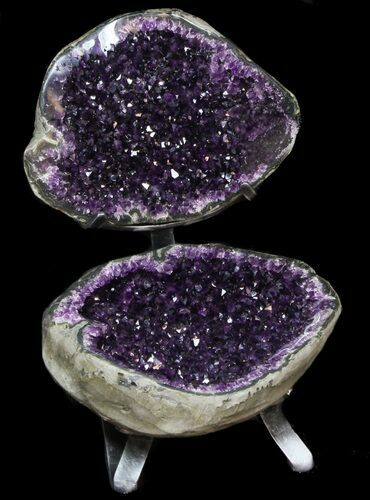 Wholesale Jewelry Arizona Amazing Amethyst Geode Display On Stand Spectacular For