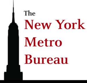 New York Bureau logo of skyscraper black silhouette.
