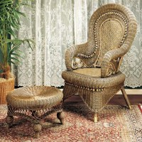 High Back Wicker Arm Chair - Foter