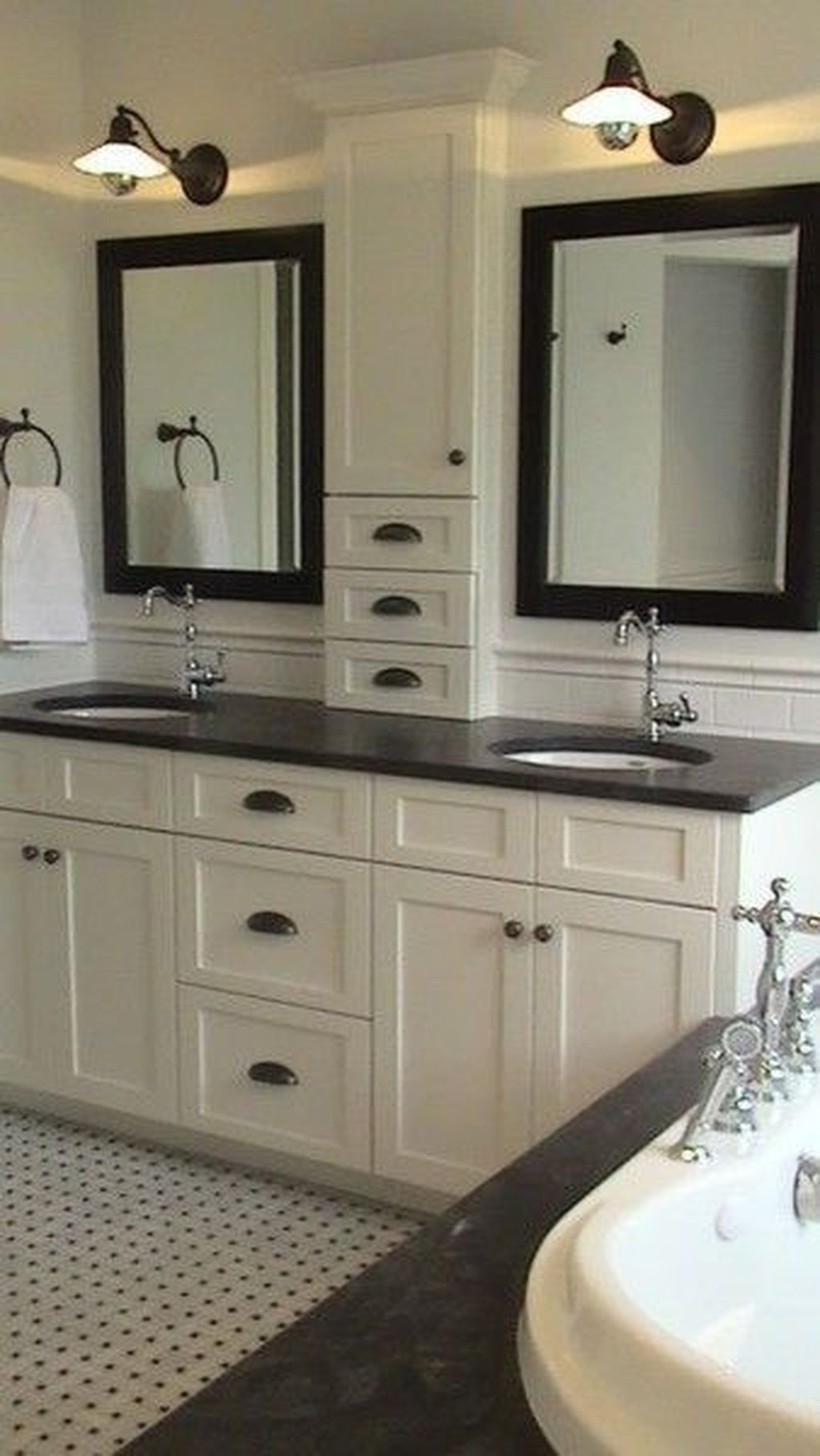 Big Mirror Stand Traditional Double Sink Bathroom Vanity Ideas On Foter