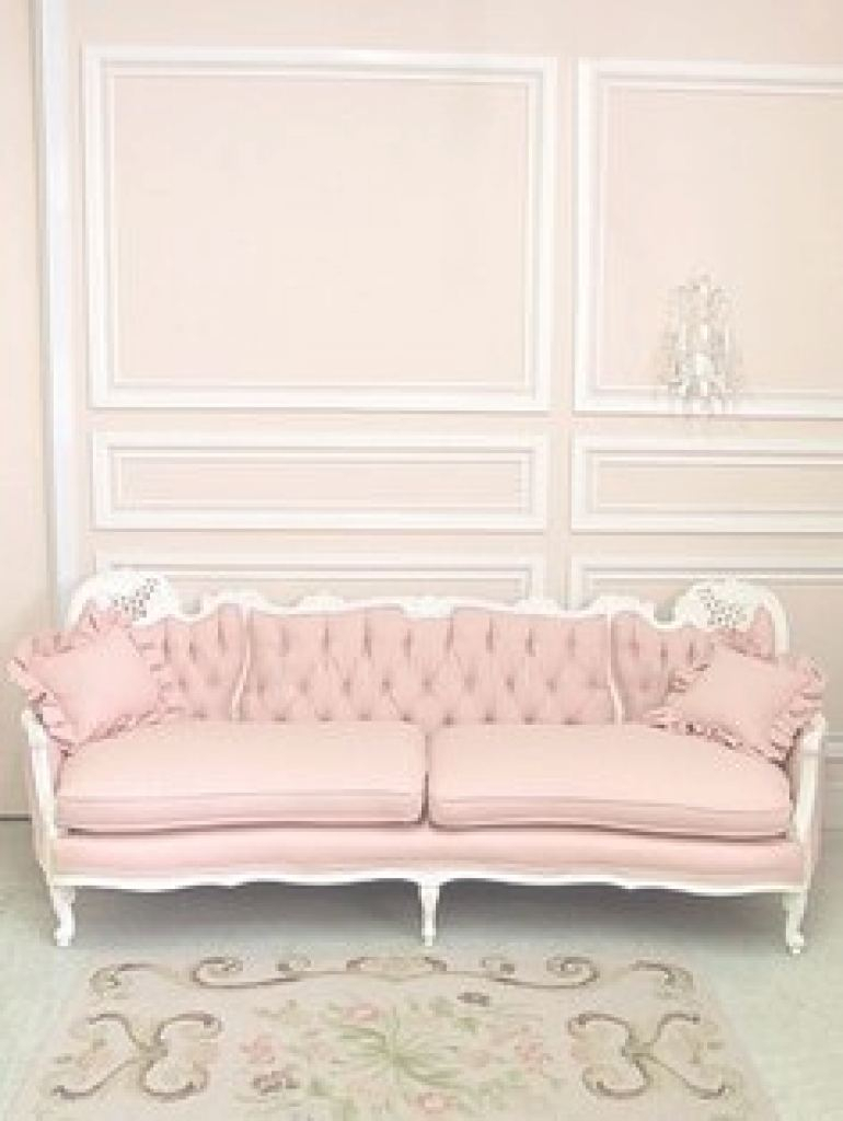 Rosa Couch Pink Tufted Sofa - Foter