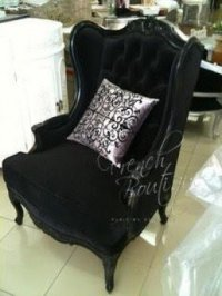 Velvet Wingback Chair - Foter