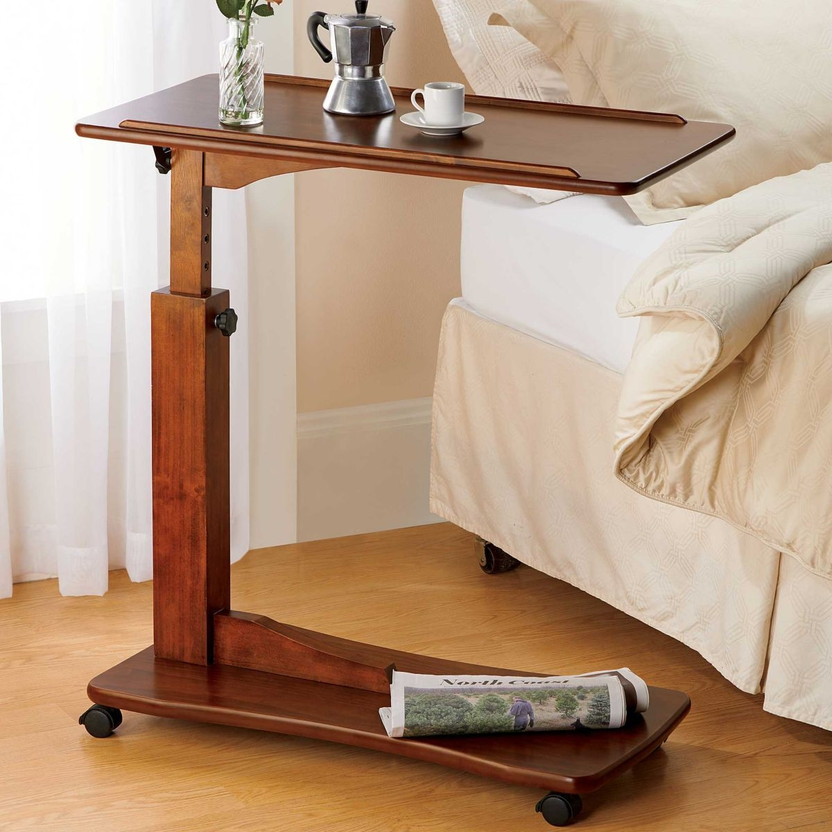Rolling Tv Tray Table