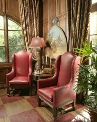 Red Wingback Chair - Foter