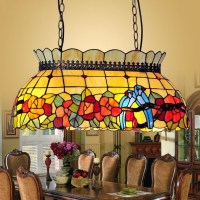 Stained Glass Hanging Pendant Lamp - Foter