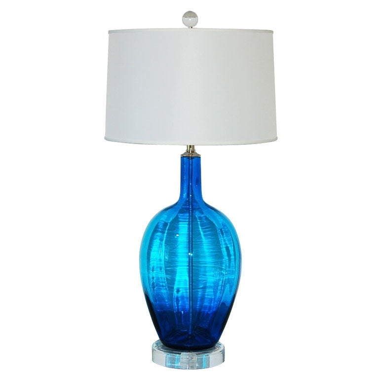 Table Lamp Hand Blown Glass Foter - Hand Blown Glass Lamp