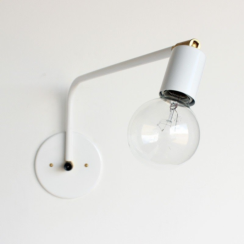 Hardwired Swing Arm Wall Lamp
