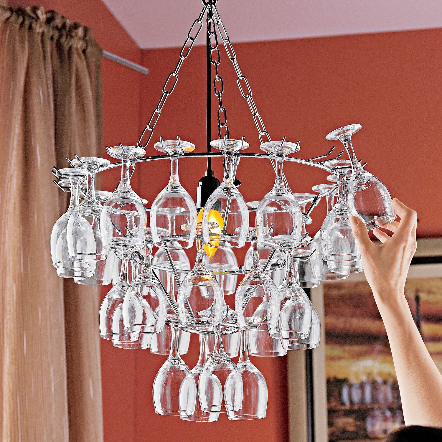 Https Foter Com Wine Glass Chandelier