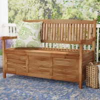 Outdoor Wooden Storage Bench