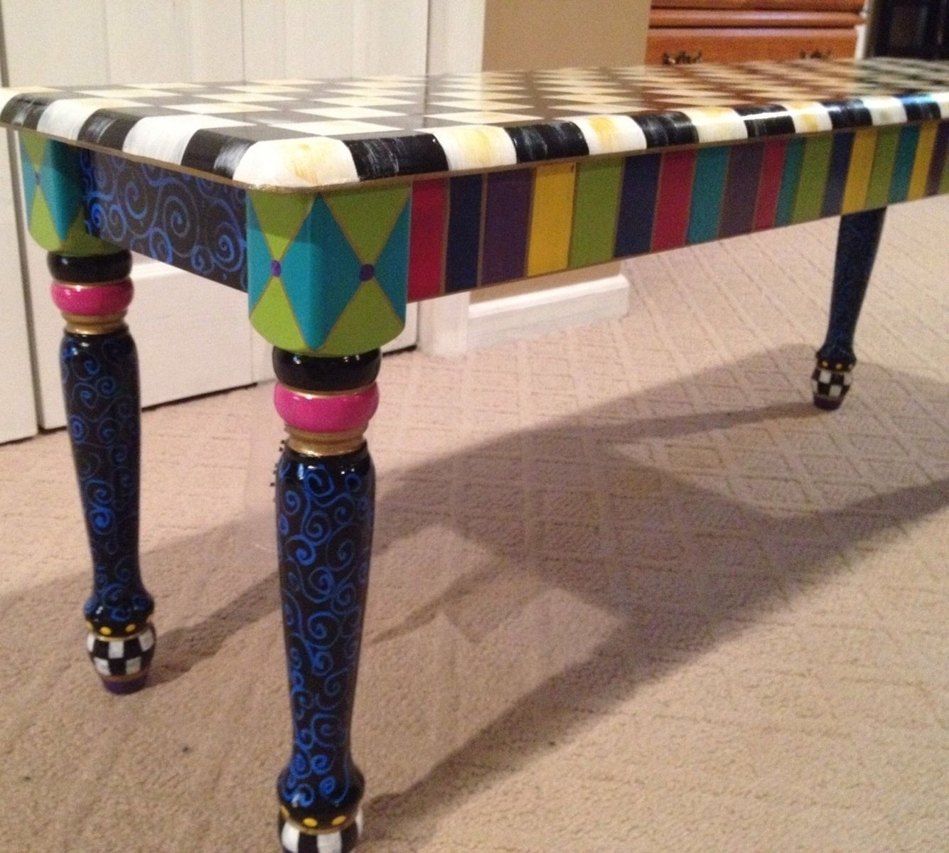 Hand Painted Bench Ideas On Foter