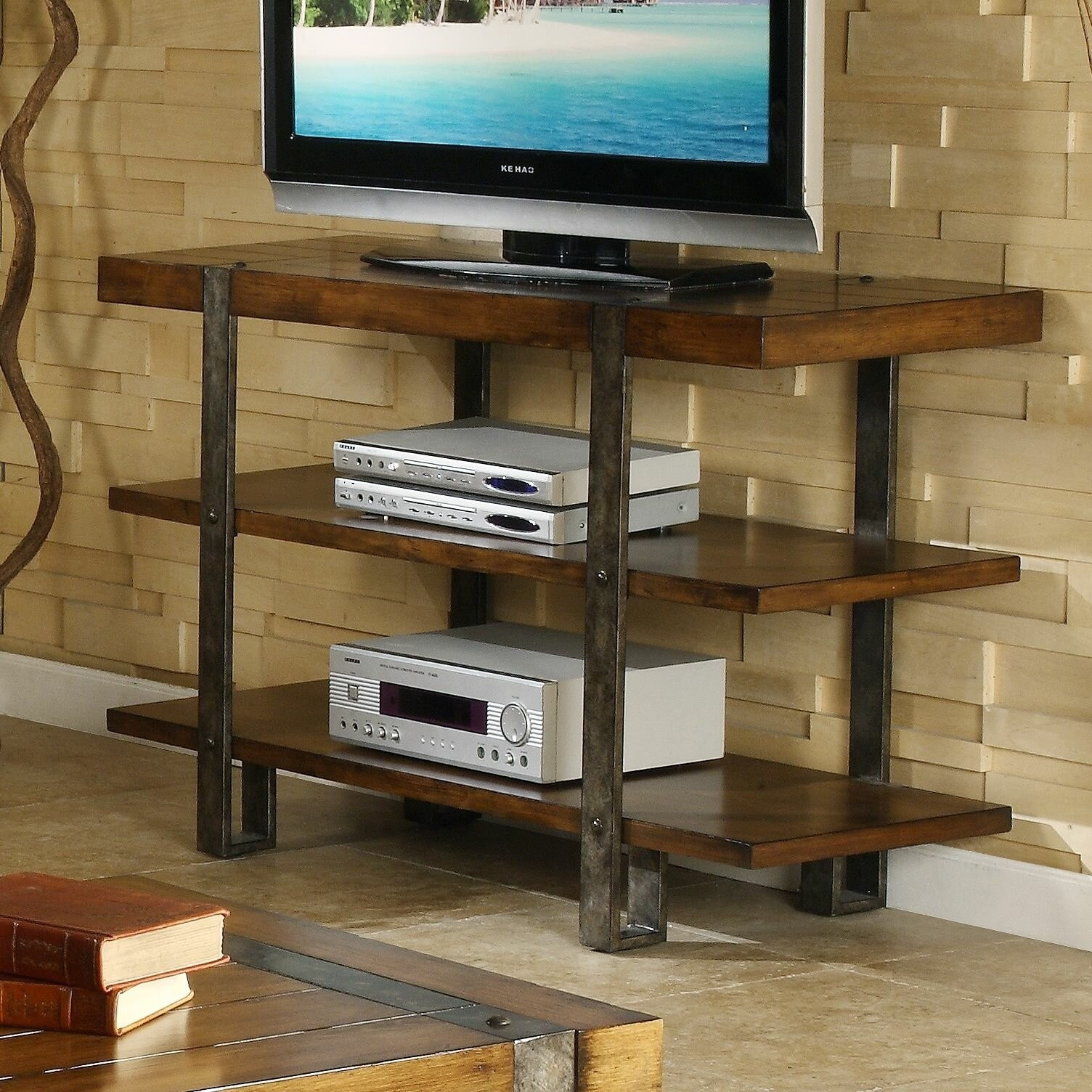 Metal And Wood Tv Stand Ideas On Foter
