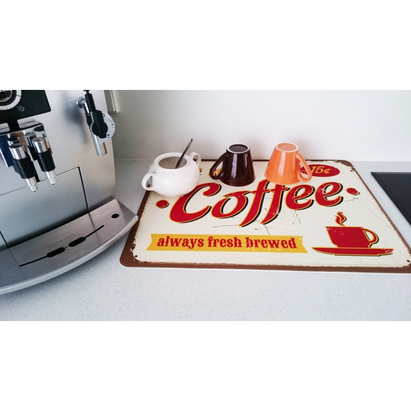 Anti Slip Matten Keuken Afdruipmat Retro We Serve Coffee – Foto-op-mat.nl